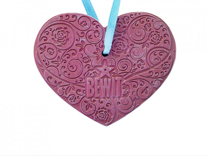 Ceramic heart 63 x 50 mm -  - 1