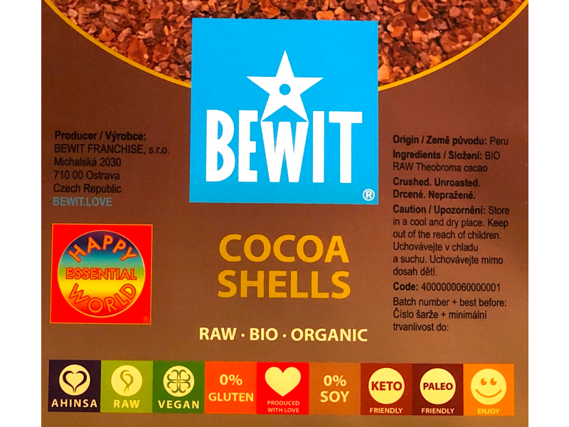 ORGANIC RAW COCOA SHELLS