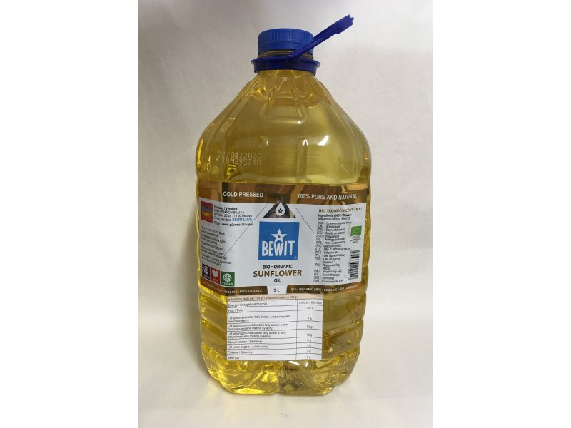 BIO SUNFLOWER OIL, DEODORIZED, 5L